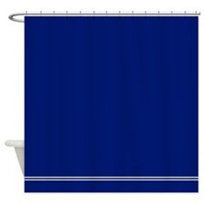 Dark Navy Blue Shower Curtain