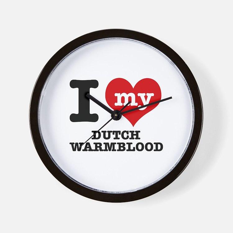 I love my Dutch Warmblood Wall Clock
