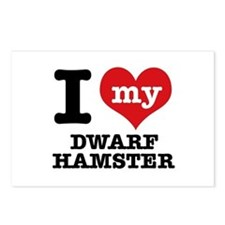 I love my Dwarf Hamster Postcards (Package of 8)