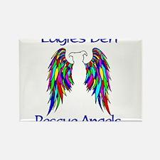 Rainbow Bridge Pibble Wings Rectangle Magnet