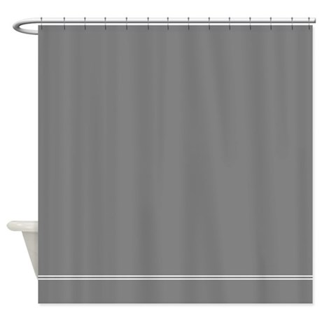 Charcoal Grey Shower Curtain By Inspirationzstore