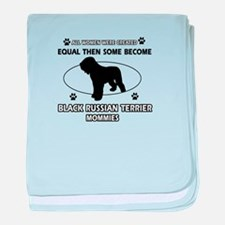 Black Russian Terrier mommy gifts baby blanket