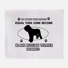 Black Russian Terrier mommy gifts Throw Blanket