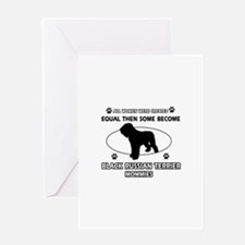 Black Russian Terrier mommy gifts Greeting Card