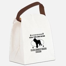 Black Russian Terrier mommy gifts Canvas Lunch Bag
