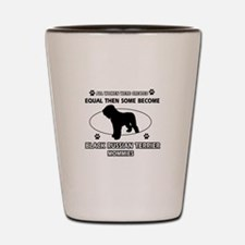 Black Russian Terrier mommy gifts Shot Glass