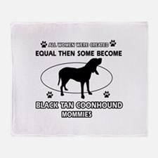 Black Tan Coonhound mommy gifts Throw Blanket
