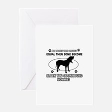 Black Tan Coonhound mommy gifts Greeting Card