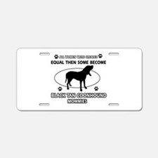 Black Tan Coonhound mommy gifts Aluminum License P