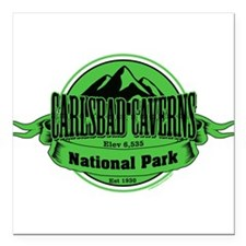 "carlsbad caverns 4 Square Car Magnet 3"" x 3"""