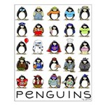 Lots of Penguins Small Poster