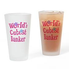 World's Cutest Banker Drinking Glass