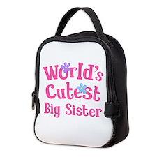 World's Cutest Big sister Neoprene Lunch Bag