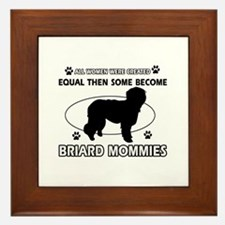 Briard mommy gifts Framed Tile