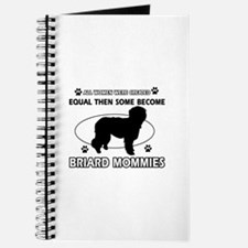 Briard mommy gifts Journal