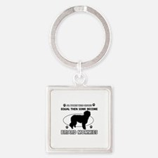 Briard mommy gifts Square Keychain