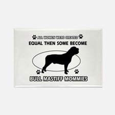 Bull Mastiff mommy gifts Rectangle Magnet (100 pac