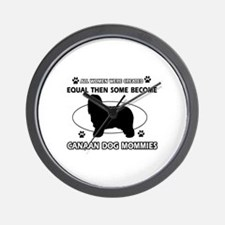 Canaan Dog mommy gifts Wall Clock