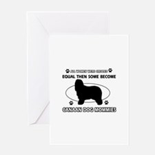 Canaan Dog mommy gifts Greeting Card