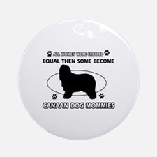 Canaan Dog mommy gifts Ornament (Round)