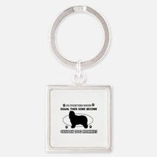 Canaan Dog mommy gifts Square Keychain