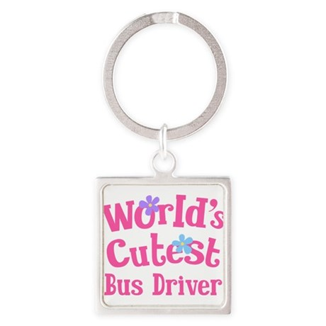 World's Cutest Bus Driver Square Keychain