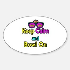 Crown Sunglasses Keep Calm And Bowl On Decal