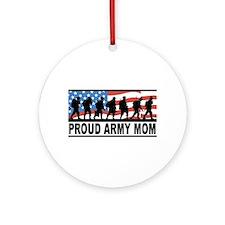 Proud Army Mom Ceramic Ornament