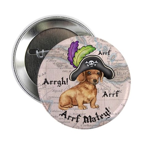 Dachshund Pirate Button