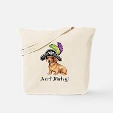 Dachshund Pirate Tote Bag