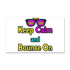 Crown Sunglasses Keep Calm And Bounce On Rectangle