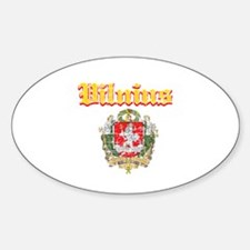 Vilnius City Designs Sticker (Oval)