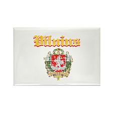 Vilnius City Designs Rectangle Magnet
