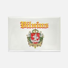 Vilnius City Designs Rectangle Magnet