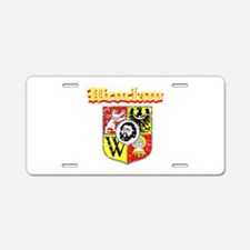 Wroclaw City Designs Aluminum License Plate