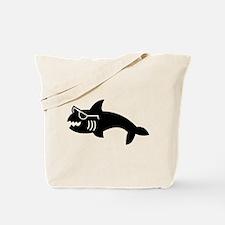 Hipster Shark Tote Bag