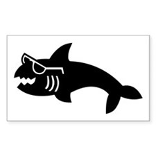Hipster Shark Decal
