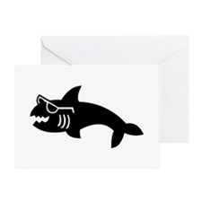 Hipster Shark Greeting Card