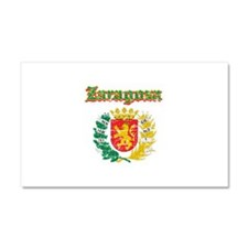 Zaragoza City Designs Car Magnet 20 x 12