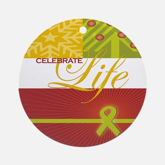 Celebrate Life Holiday Collection Ornament (Round)