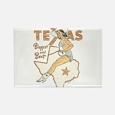 Vintage Texas Pinup Rectangle Magnet