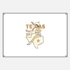 Vintage Texas Pinup Banner