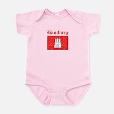 Hamburg flag designs Infant Bodysuit