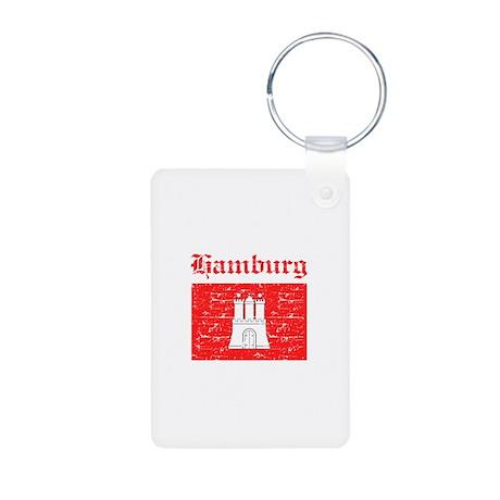 Hamburg flag designs Aluminum Photo Keychain