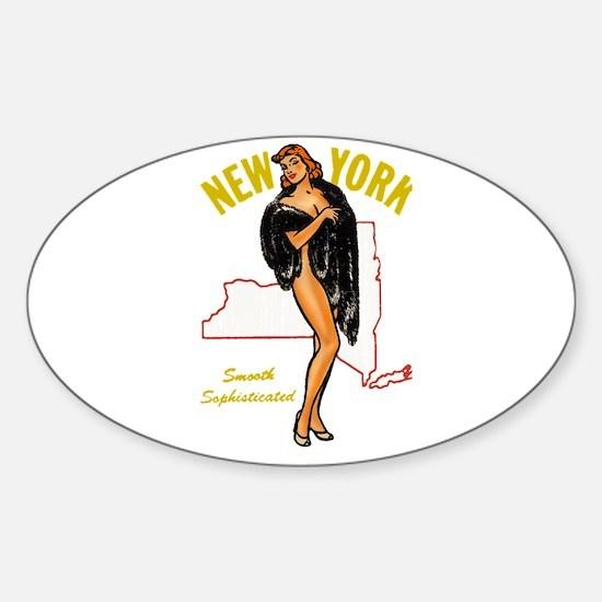 Vintage New York Pinup Decal