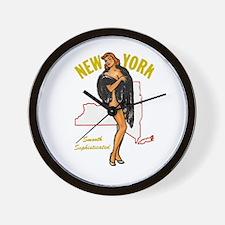 Vintage New York Pinup Wall Clock