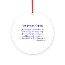 Jabez Prayer Ornament (Round)