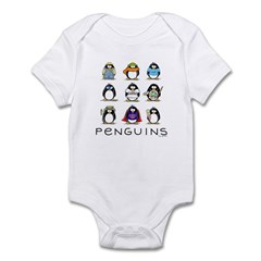 9 Penguins Infant Bodysuit
