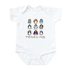 9 Penguins Infant Bodysuit