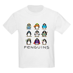 9 Penguins Kids T-Shirt